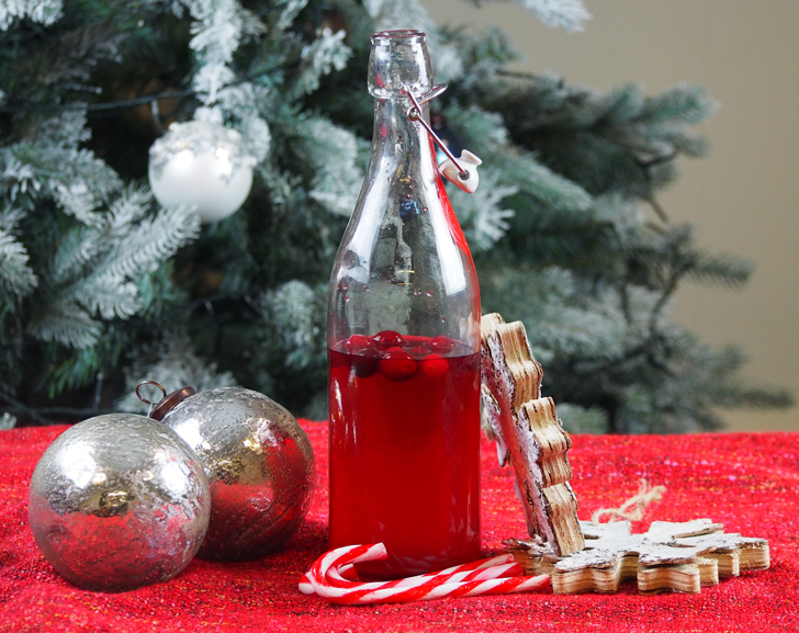 Make your own Christmas cranberry gin
