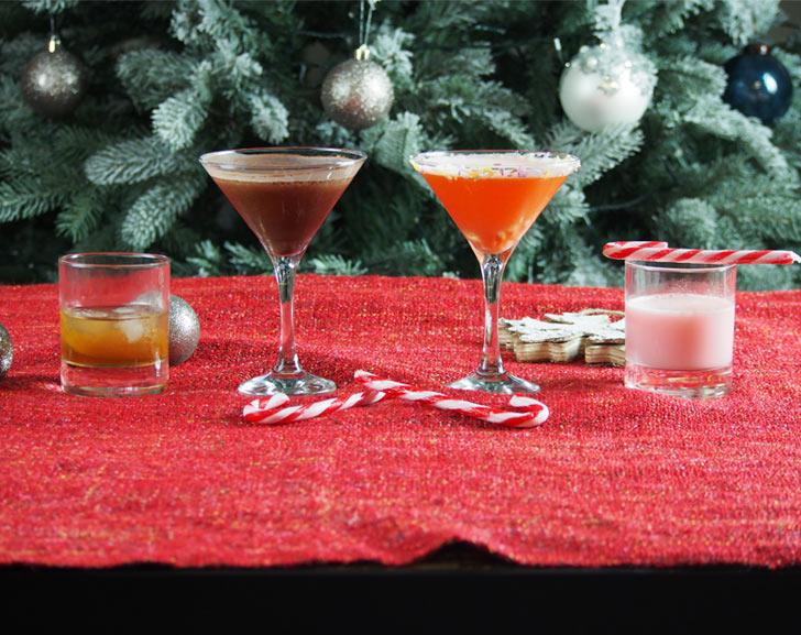 Christmas candy cocktails