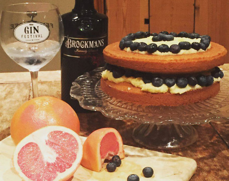 Brockmans Gin & Tonic Cake