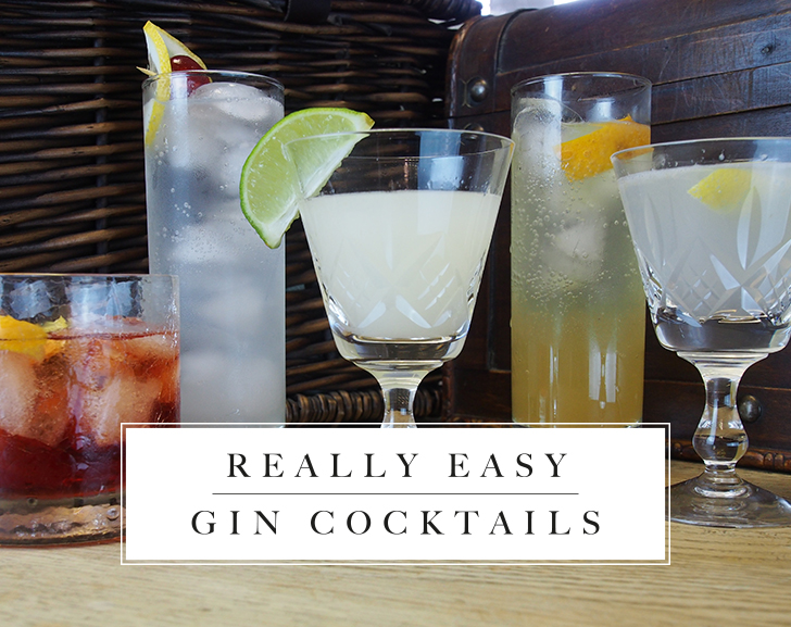 5 Really Easy Gin Cocktails
