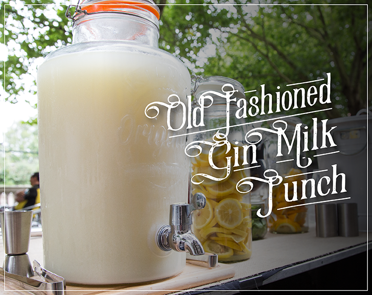 Old Fashioned Gin Milk Punch