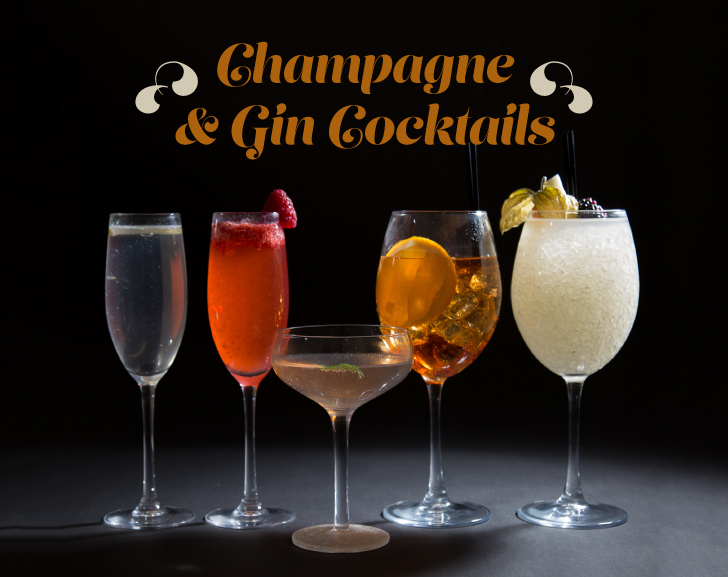 Champagne and Gin Cocktails