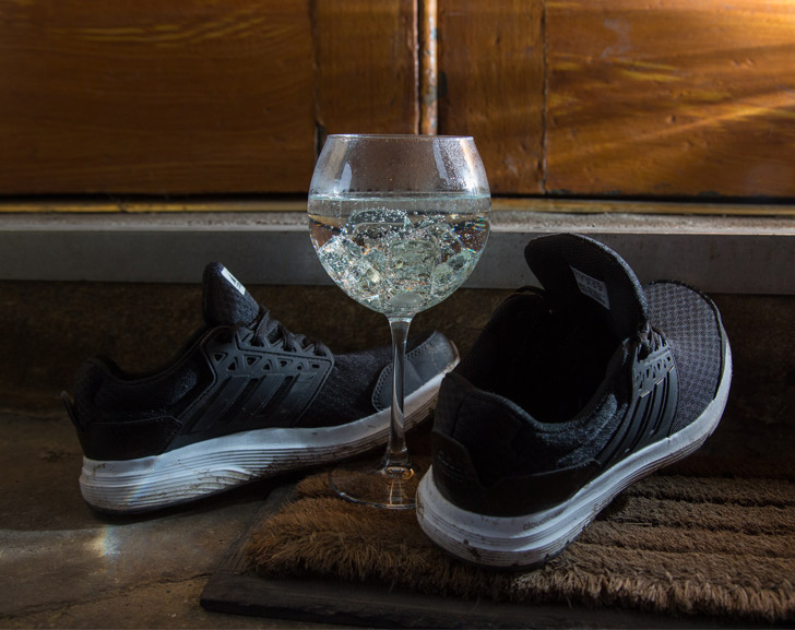 Have you heard about this secret gin run? shoes and gin glass