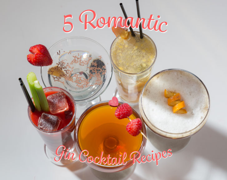 5 Romantic Gin Cocktail Recipes